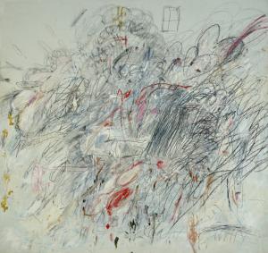«Η Λήδα και ο Κύκνος» του Cy Twombly, 1962.