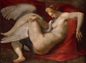 «Η Λήδα και ο Κύκνος» του Peter Paul Rubens, circa 1530 (αντίγραφο από το χαμένο έργο του Μικελάντζελο), Εθνική Πινακοθήκη του Λονδίνου.