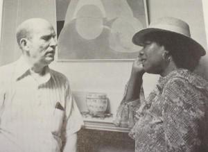 Ο A. R. Ammons με την ποιήτρια Maya Angelou το 1980.