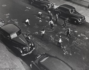 Arthur Leipzig's 'Chalk Games', Brooklyn, New York, 1950's