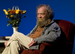 Poet Laureate Donald Hall reads at the Fowler Hall