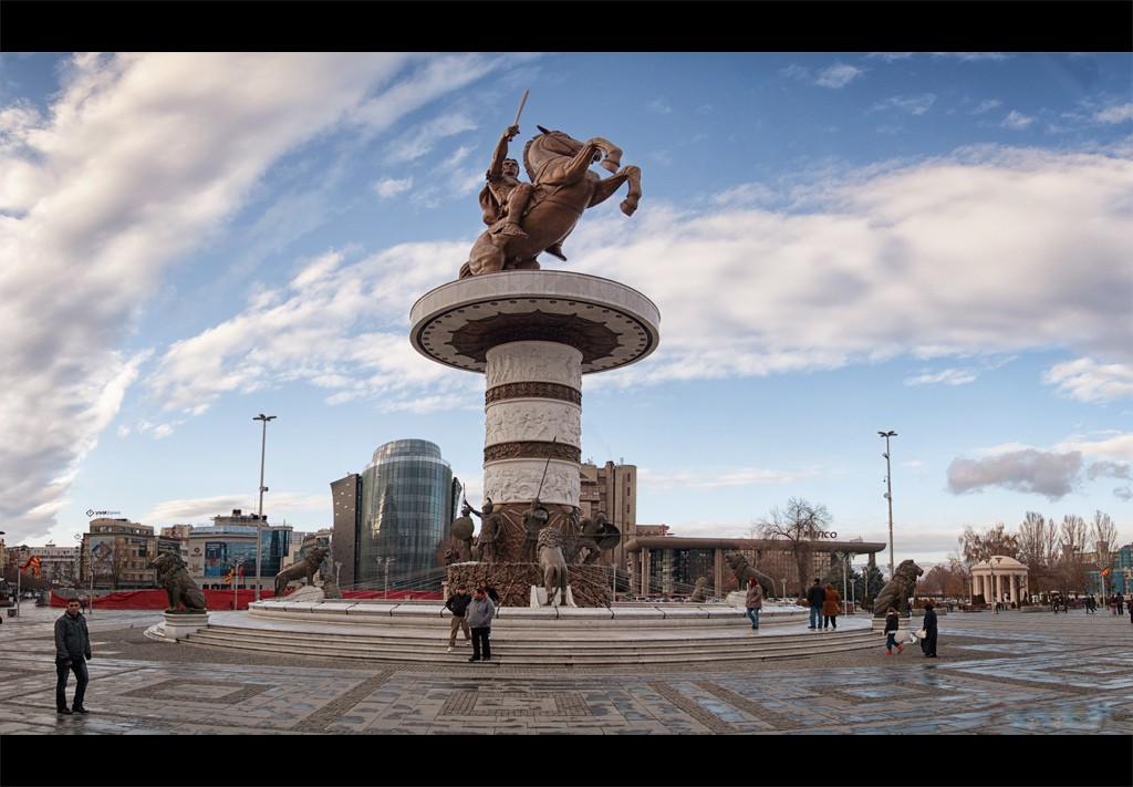 Skopje Macedonia - Alexander the Great Statue 6